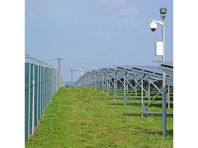 solar farm with wireless ptz camera